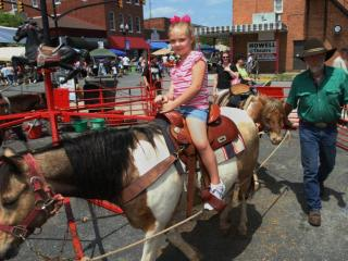 Pony rides are a popular favorite at the annual Ham and Yam Festival in Smithfield, May 1-2, 2010.