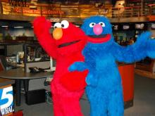 Elmo, Grover dance at WRAL