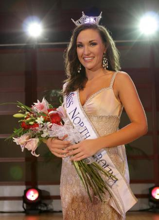 Miss Raleigh Adrienne Core, a 2010 graduate of North Carolina State University, was crowned as Miss North Carolina at Meymandi Concert Hall on Saturday, June 27.