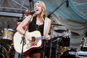 Colbie Caillat opened for Sheryl Crow at Cary's Koka Booth Amphitheatre at Regency Park on Sunday evening, August 15, 2010. (Photo by Jack Morton).