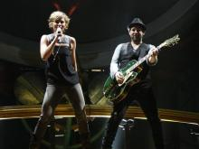 Sugarland performed at Time Warner Cable Music Pavilion at Walnut Creek on October 2, 2010.