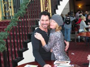 "Michelle Stafford (""Young and the Restless"") and Don Diamont (""The Bold and the Beautiful"") pose for a photo after meeting with fans in Raleigh on Nov. 21, 2010."