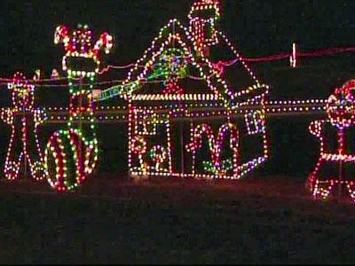 """""""Santa's Holiday Light Show Hay-Ride"""" offers lights and fun for the family. It is located at  5715 Fayetteville Road in Raleigh."""