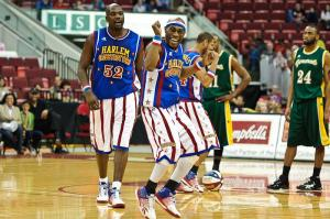The Harlem Globetrotters entertain the crowd at the RBC Center in Raleigh on March 5, 2011.