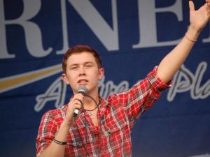 American Idol finalist Scotty McCreery took the stage in his hometown of Garner on May 14, 2011.