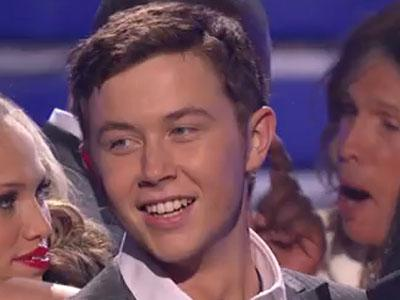 "Scotty McCreery after being crowned ""American Idol."""