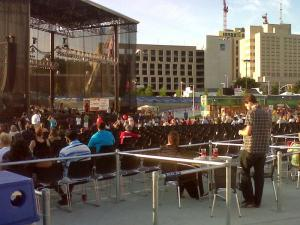 The Rise Up Raleigh concert is being held at the downtown amphitheater June 3.