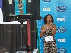 """Samantha Glass of Raleigh sings Adele's """"Rolling in the Deep."""""""