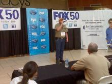"""Richard Smelser performs for judges at the """"Triangle Idol"""" event in Cary."""