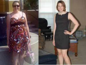 On the left - Me in June 2010 On the right - Me in July 2011 after losing 30 pounds.
