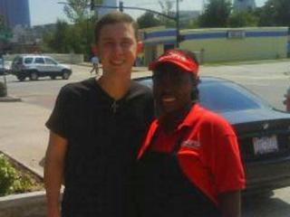 Scotty McCreery spotted at Snoopy's!