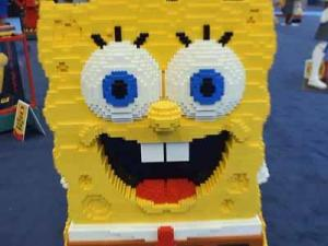 Spongebob is made of Lego bricks. He will appear at this weekend's Lego KidsFest in Raleigh.