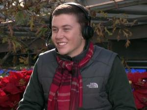 Scotty McCreery at the 2011 Raleigh Christmas Parade