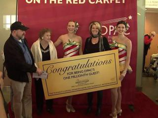 Dawn Cooper from Maryland was the 1,000,000th visitor to the DPAC.