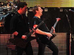 Nickelback performs during the WWE Tribute to the Troops Sunday, Dec. 11, 2011 in Fayetteville, NC.