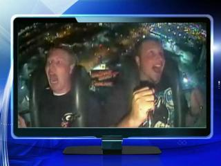 A video of a young man terrified and screaming on an amusement park ride called the Slingshot – all while his friend laughs at his fear – is what's trending Monday.
