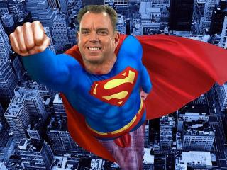 WRAL News anchor Jackie Hyland said she saw a human-shaped flying object on a recent trip to New York City. It wasn't a bird or a plane, it was a meteorologist – Super Mike Maze!