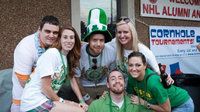 People party for St. Patrick's Day at Lucky B's in 2012.