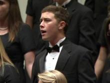 Scotty McCreery at Garner choral concert
