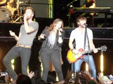 Lady Antebellum played to a lively crowd of fans at the Time Warner Cable Music Pavilion at Walnut Creek on June 8, 2012 in Raleigh, NC (Photo by Jack Morton).