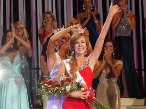 Miss Kinston-Lenoir Arlie Honeycutt is crowned Miss North Carolina at Raleigh Memorial Auditorium Saturday, June 23, 2012. (Photo courtesy of the Miss North Carolina pageant)