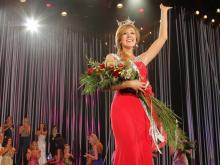 Miss Kinston-Lenoir Arlie Honeycutt, a Garner woman and East Carolina University student, was crowned the 75th Miss North Carolina at Raleigh Memorial Auditorium on Saturday, June 23, 2012.