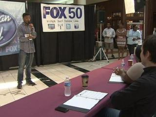 Singers flocked to Crabtree Valley Mall Saturday to try for a guaranteed 'American Idol' audition.