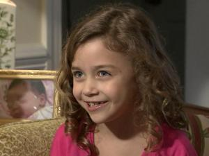 "Mimi Kirkland, 8, of Raleigh, stars in ""Safe Haven,"" a movie adaption of a Nicholas Sparks movel of the same name."