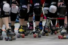 Behind the scenes of the Carolina Rollergirls