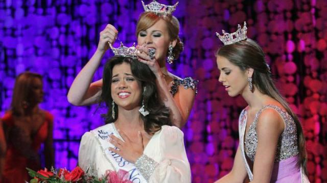 Miss Johnston County Johna Edmonds topped Miss Capital City Saturday night to win the Miss North Carolina 2013 crown at Memorial Auditorium in Raleigh.