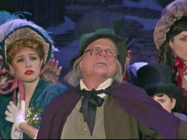 "Ira David Wood is Scrooge in ""A Christmas Carol."""