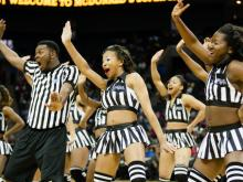 Dance teams and performers showed their stuff at the CIAA's Super Saturday event at Time Warner Cable Arena in Charlotte.