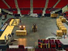 3/19: Time-lapse video of NCAA floor installed at PNC Arena
