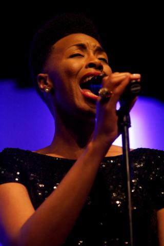 Carolyn Malachi performed at PSI Theater during The Art of Cool Festival in Durham, N.C. on April 25, 2014. (Stan Chambers Jr./WRAL)