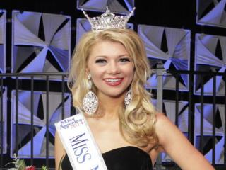 Beth Stovall, Miss Greater Sampson County, won the 2014 Miss North Carolina title at Raleigh's Memorial Auditorium on June 21, 2014. (Photo courtesy of the Miss North Carolina pageant)