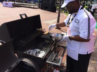 The winning jerk chef hailed from Atlanta.
