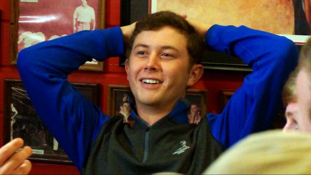 Scotty McCreery is still close with some of the friends from his childhood in Garner.