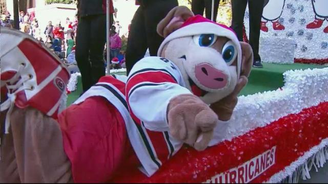 2014 WRAL Raleigh Christmas Parade part 13: Red Hat Amphitheater, Grace Christian School, North Raleigh Christian Academy, Carolina Hurricanes and WTVD-ABC 11.