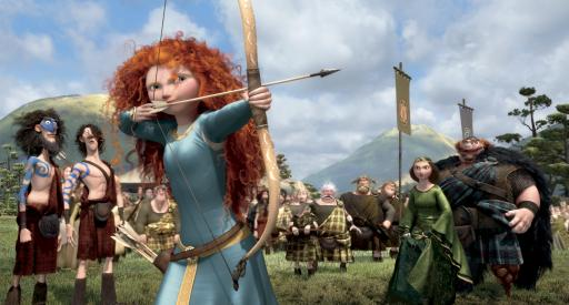 "Merida, voiced by Kelly Macdonald, in a scene from ""Brave."" (Deseret Photo)"