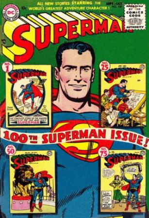 "An early issue of the ""Superman"" comic book features the superhero before the character became as surly as Batman. (Deseret Photo)"