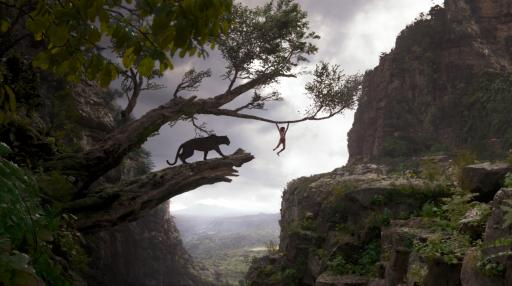 "Bagheera (voice of Ben Kingsley) and Mowgli (Neel Sethi) in ""The Jungle Book,"" an all-new live-action epic adventure. (Deseret Photo)"