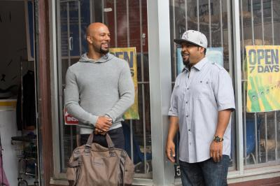 "Common stars as Rashad and Ice Cube as Calvin in ""Barbershop: The Next Cut."" (Deseret Photo)"
