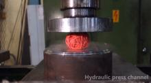 IMAGE: Have You Seen This? Frozen stuff gets crushed by hydraulic press