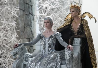 "Wicked sisters Freya (Emily Blunt), left, and Queen Ravenna (Charlize Theron) threaten the enchanted land with twice the darkest force it's ever seen in the epic action-adventure ""The Huntsman: Winter's War,"" a breathtaking new tale nested in the legendary saga. (Deseret Photo)"