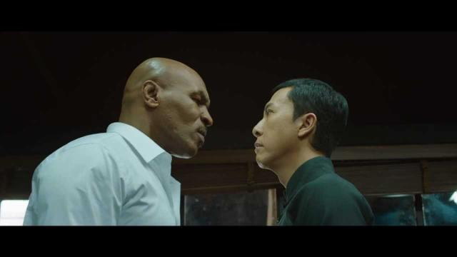 "Donnie Yen, right, squares off against Mike Tyson in ""Ip Man 3,"" now on Blu-ray and DVD. (Deseret Photo)"