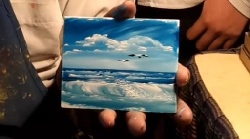 This artist in Cancun, Mexico, is making finger painting cool again. (Deseret Photo)