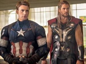 "Captain America (Chris Evans), left, and Thor (Chris Hemsworth) are part of the team of superheroes in ""Avengers: Age of Ultron,"" now on Blu-ray and DVD. The movie was 2015's second biggest hit (after ""Jurassic World""). (Deseret Photo)"