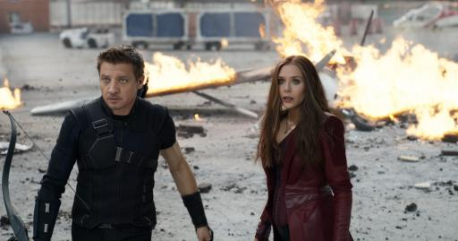 "Hawkeye/Clint Barton (Jeremy Renner, left) and Wanda Maximoff/Scarlet Witch (Elizabeth Olsen) in Marvel's ""Captain America: Civil War."" (Deseret Photo)"