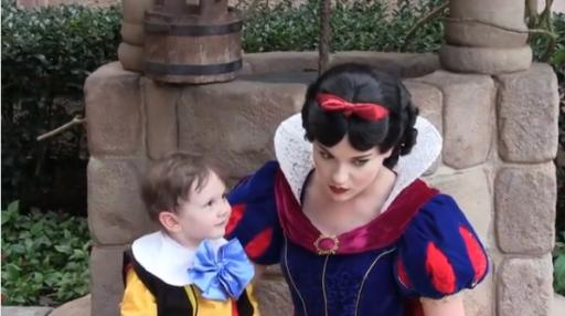 This adorable 2-year-old boy, Jack Jack, falls madly in love with Snow White at Disneyland. The video is cute, but try to hold onto your emotions when you find out the whole story. (Deseret Photo)