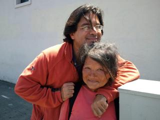 """Amir Soltani and Hayok Kay during the filming of """"Dogtown Redemption,"""" a documentary that follows recyclers who make a living from the trash in Oakland, California. (Deseret Photo)"""